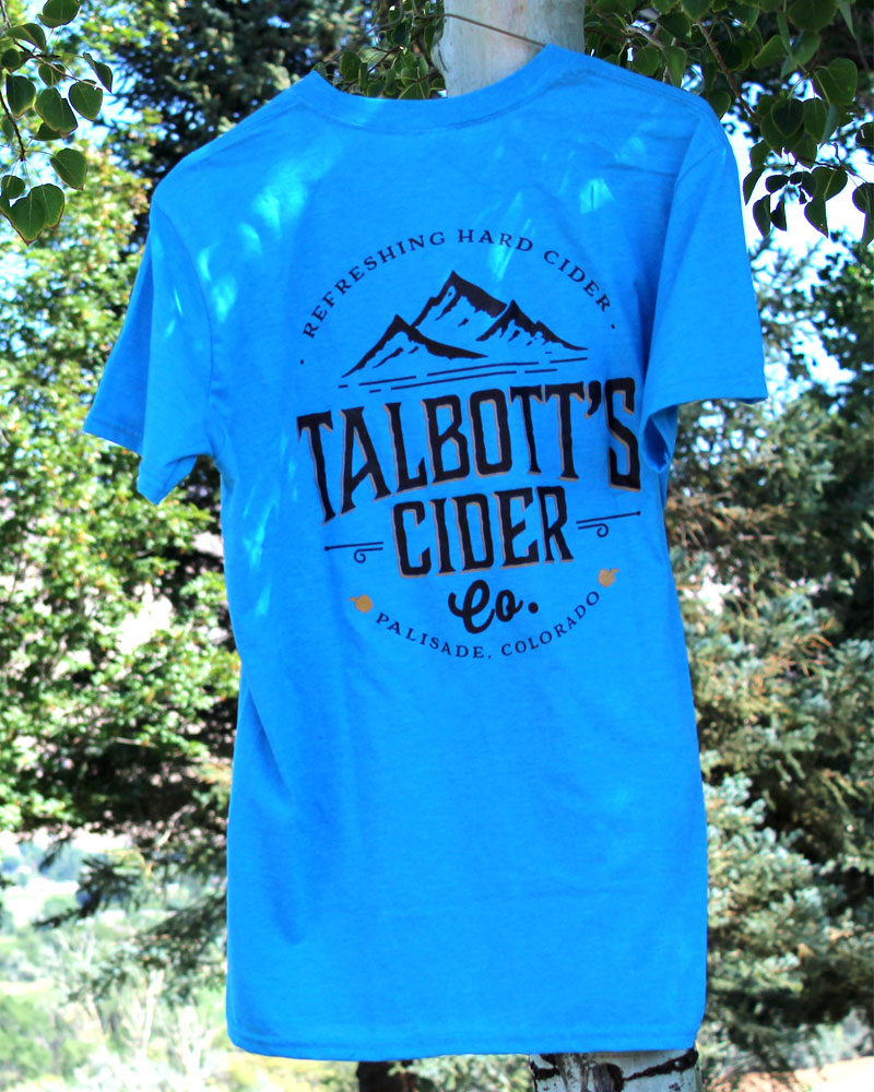 Talbott's Cider Mens Blue T-Shirt