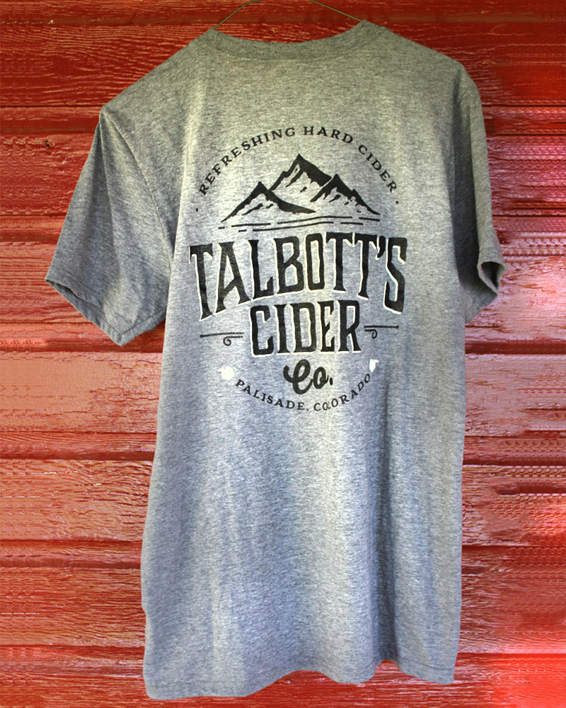 Talbott's Cider Mens Gray T-Shirt
